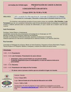JORNADAS DE ARTETERAPIA – Presentación de Casos Clínicos y II Encuentro con Artistas @ Sala de Grados. Facultad de Educación UCM | Madrid | Comunidad de Madrid | España