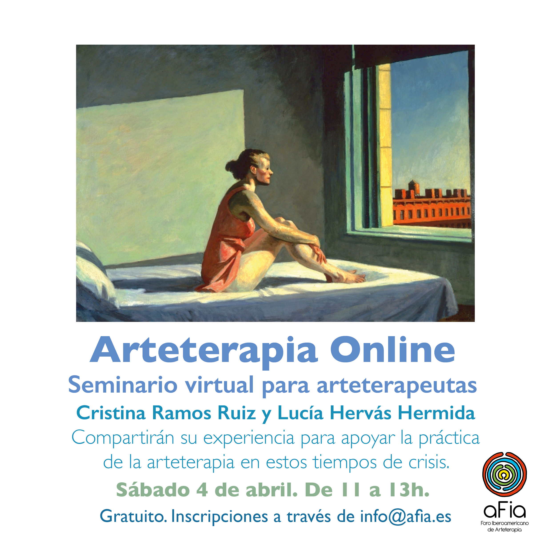 Cartel arteterapia online AFIA