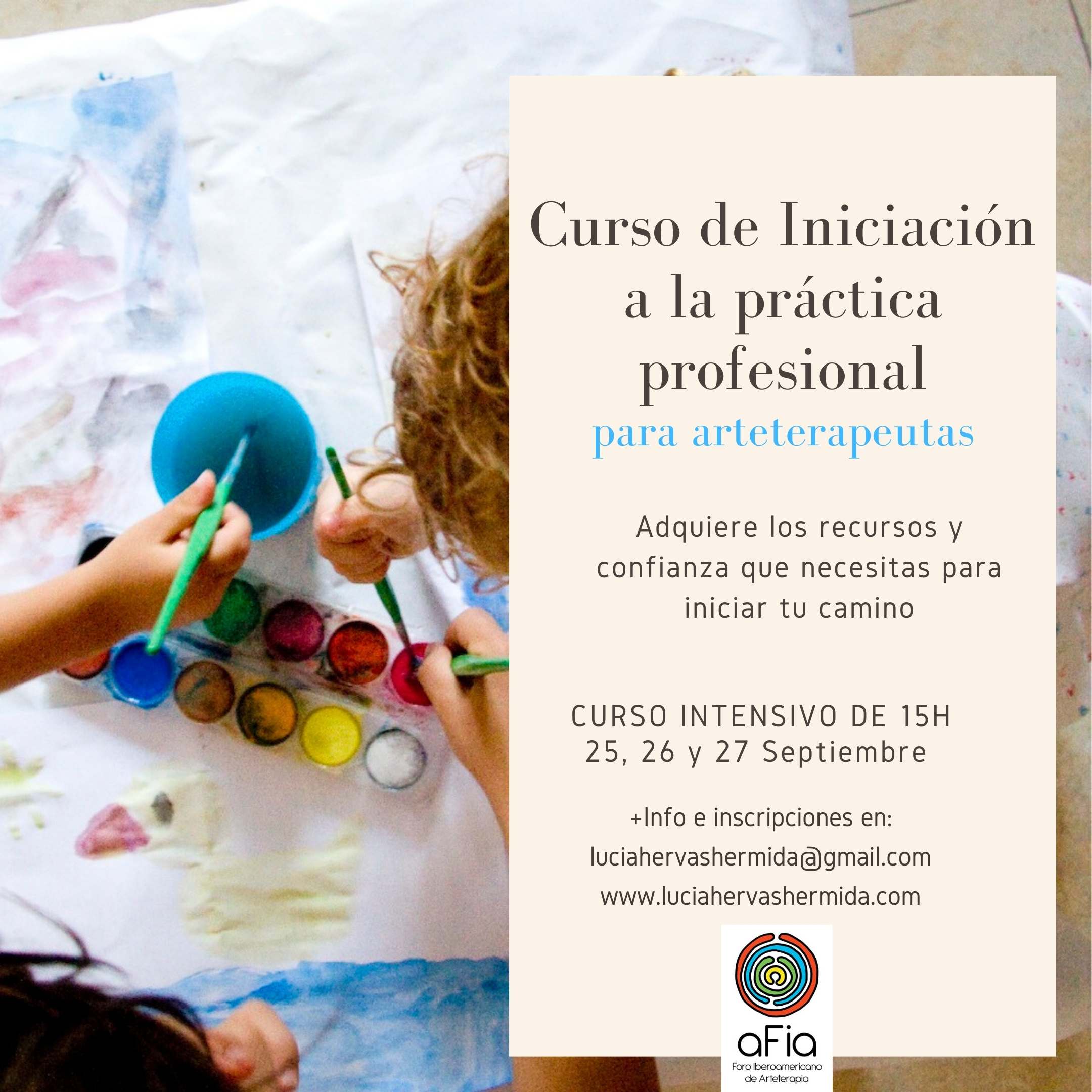 Info Curso Iniciación a la práctica profesional para arteterapeutas AFIA1